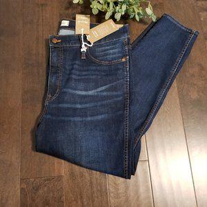 "Madewell 10"" Rise Skinny Jeans 33 Petite NWT"